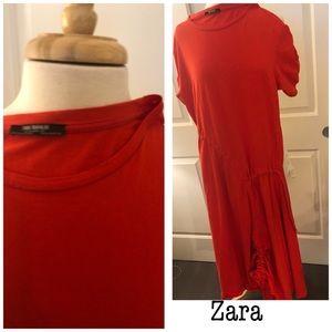 Zara Asymmetrical Dress- Salmon